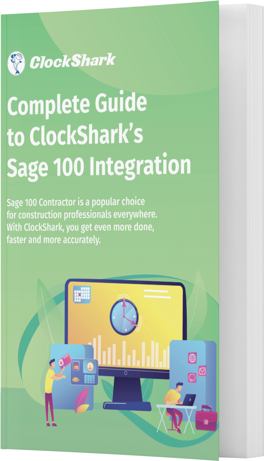 A Complete Guide to ClockShark and Sage 100 Contractor Integration-book